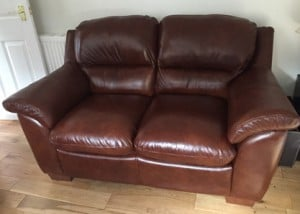 Leather Sofa Rescot Upholstery