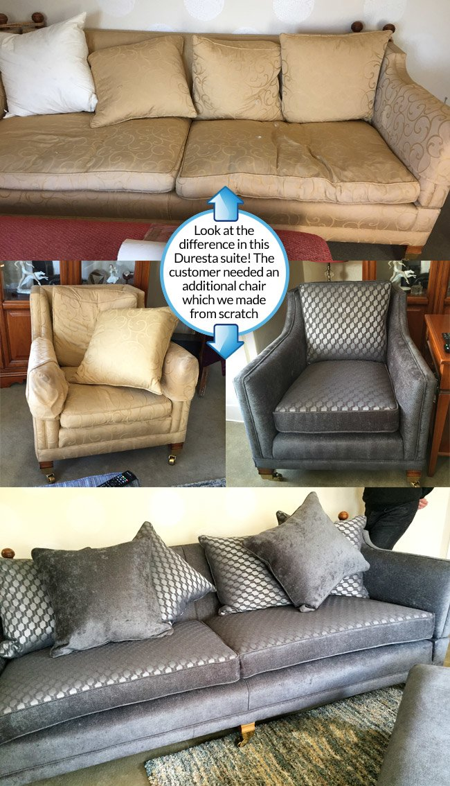 Recovering A Quality Duresta Sofa With Excellent Results