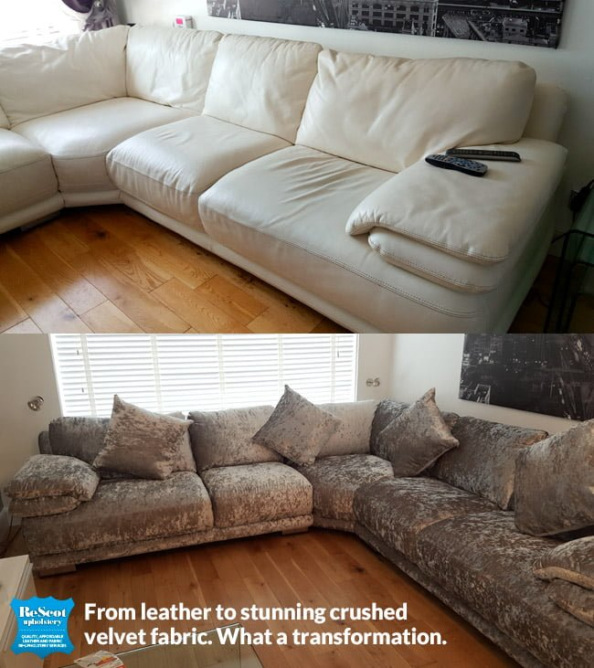 Recover Your Sofa From Leather To Fabric Stunning