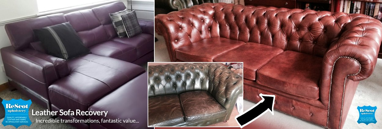 Leather Sofa Recovery | Affordable Leather Reupholstery